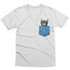 Cat Denim Pocket V-Neck