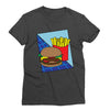 Burger and Fries Retro T-Shirt