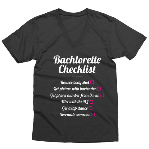 Bachelorette Checklist V-Neck