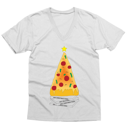Christmas Pizza V-Neck