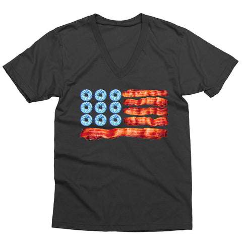 American Food Flag V-Neck