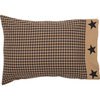 Black Check Star Pillow Cases