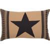 Black Check Star Pillow