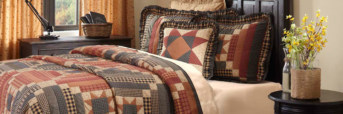 Bedding perfect for your country primitive home or cabin decor