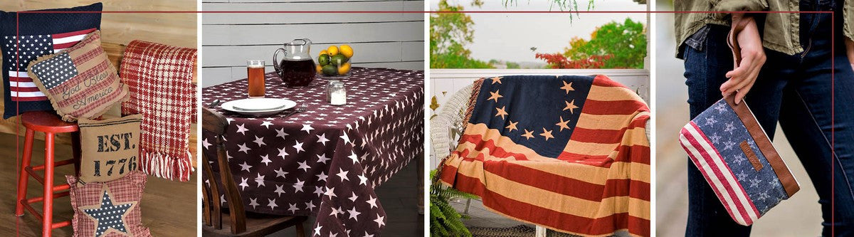 Display Your Patriotism With Americana Home Decor   Pillows, Table Linens,  Quilts, Curtains And More. Show Off Your Personal Style With Patriotic  Bella ...