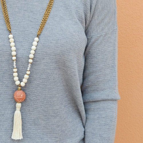 Clay Tassel Necklace