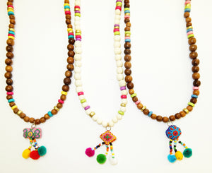 Pom Pom Puff Necklace
