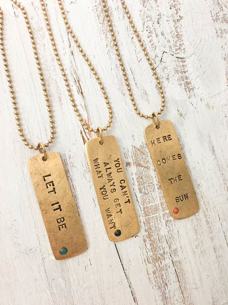 Song Tag Necklace