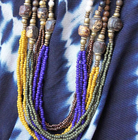 Seed Bead Layering Necklace