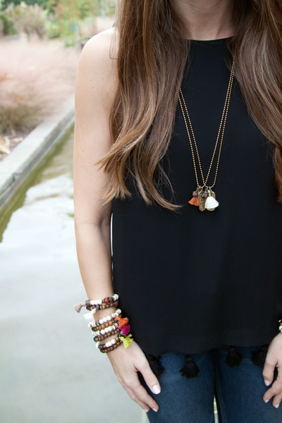 Tassel Tag Necklace