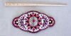 Garnet/Bead Morning Star Stick Barrette