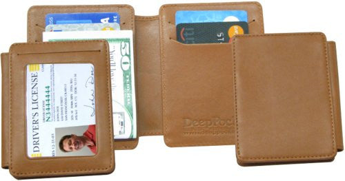 KT-136-T DeepPocket Money Clip Leather Wallet with SeeID (Deluxe) Model