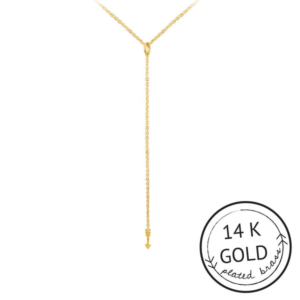 Kitch Fearless Y-Shaped Arrow Necklace