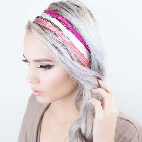 Kitsch Pretty in Pink Headbands