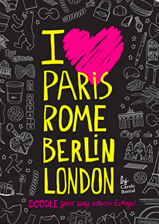 I love Paris Rome Berlin London Doodle