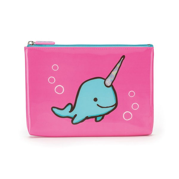 Jelly Cat Seas the Day Fuchsia Large Pouch