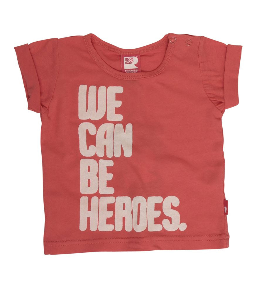 We Can Be Heroes Baby Tee
