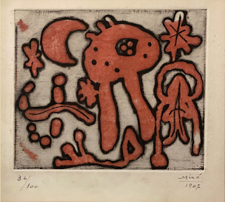 "Joan Miró, Limited Edition Etching, ""One Plate,"" 1947"