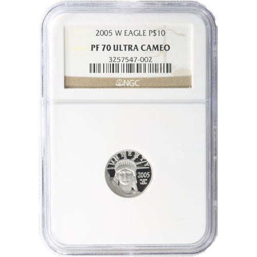 1/10 oz Proof American Platinum Eagle Coin NGC PF70 UCAM (Random Year, Varied Label)