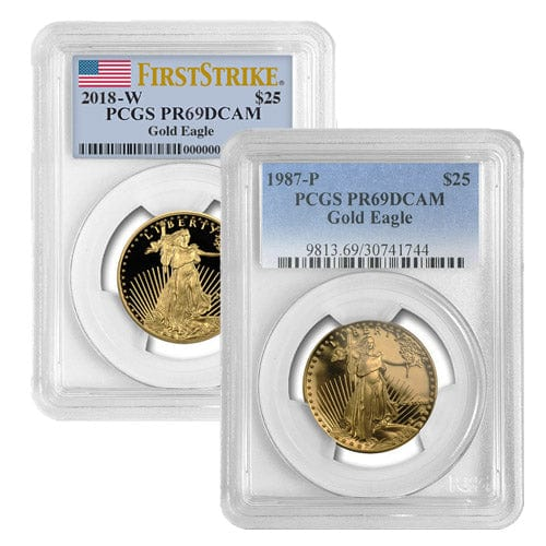 1/2 oz Proof American Gold Eagle Coin PCGS PR69 DCAM (Random Year)