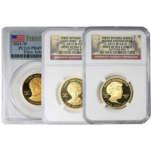 1/2 oz US Mint First Spouse Gold Coin MS/PR69 (Random Year, NGC or PCGS)