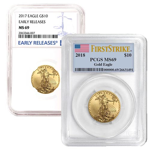 1/4 oz American Gold Eagle MS69 (Random Year, Varied Label, PCGS or NGC)