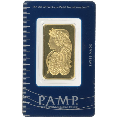 1 oz PAMP Suisse Fortuna Gold Bar (Secondary Market w/ Assay)