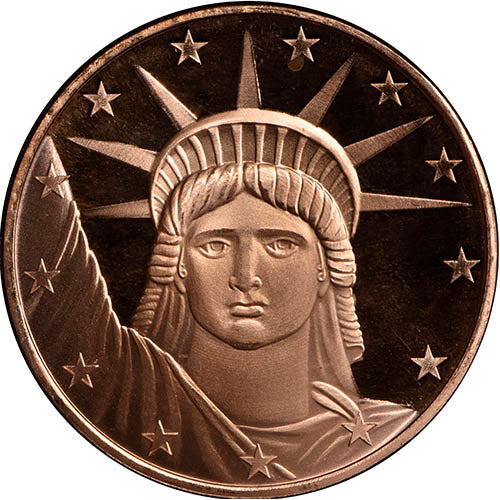 1 oz SilverTowne Statue of Liberty Copper Round (New)