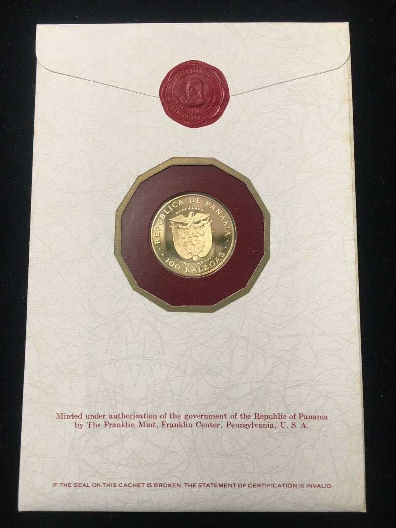 1975 One-Hundred Balboa Proof Gold Coin w/ Original Case -$1.5K Value w/ CoA! ✓