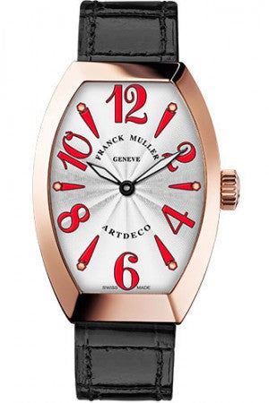 Franck Muller 18K RG 36mm Model 11002 H QZ 5N White Red