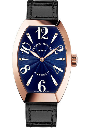 Franck Muller 18K RG 23mm Model 11002 S QZ 5N Blue