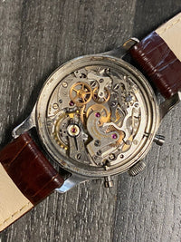 HEUER FOR ABERCROMBIE & FITCH CO. Triple Chronograph C. 1940's Men's Watch Made by Heure - $100K Appraisal Value! ✓