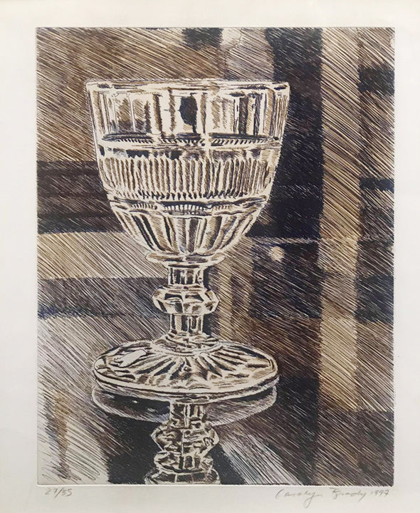 Carolyn Brady, 'Glass,' Ltd. Edition Colored Etching (27/35), 1997, Signed -w/CoA- Appraisal Value: $3K+*
