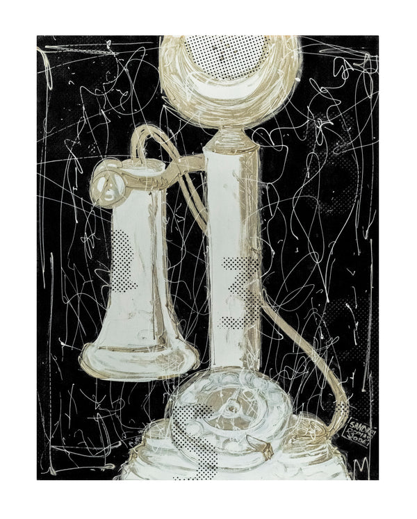 Sandrine Comas, 'The Telephone', Acrylic & Lacquer on Canvas, 2006 - Appraisal Value: $6K!