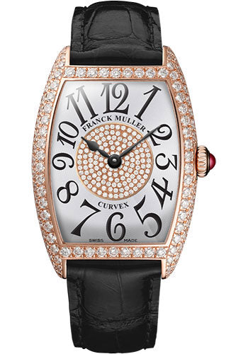 Franck Muller 18K RG Model 1752 QZ D 1P 5N WHITE BLACK