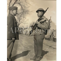 Rare Photo of Heavy Weight Boxer JOE LOUIS Addressing Officer - $1.5K APR Value w/ CoA!