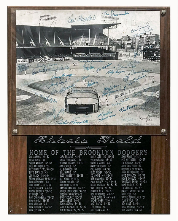 "BROOKLYN DODGERS ""Ebbets Field"" 1953 Autographed Photograph - $12K APR Value w/ CoA! +✓"