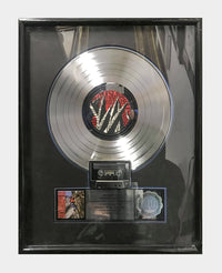 "DAVID LEE ROTH ""Skyscrapper"" 1988 Platinum Record Sales Award - $8K APR Value w/ CoA! +✓"
