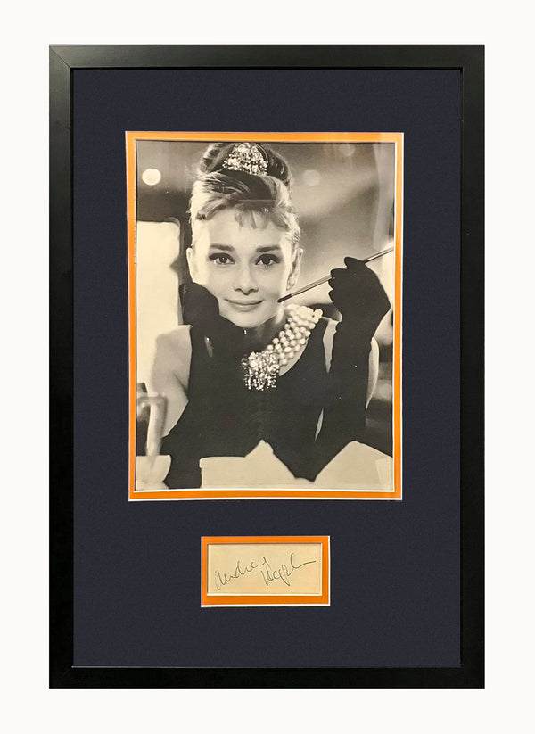 Audrey Hepburn c.1960 Autographed Index Card with Portrait - $2K Appraisal Value!