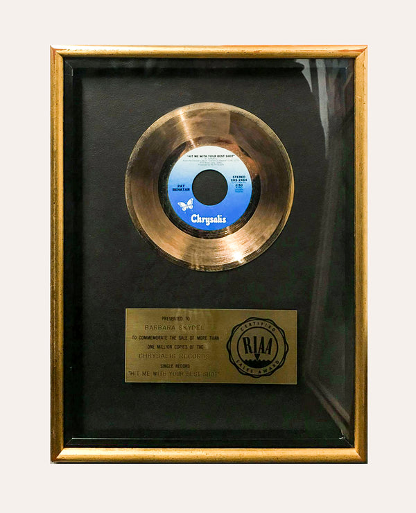 "Pat Benatar ""Hit Me With Your Best Shot"" 1980 Gold Record -w/CoA- & $6K APR!!!!+"