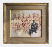 Everett Raymond Kinstler, 'The Jury Panel,' Original Gouache on Board, c. 1950 - Appraisal Value: $15K*