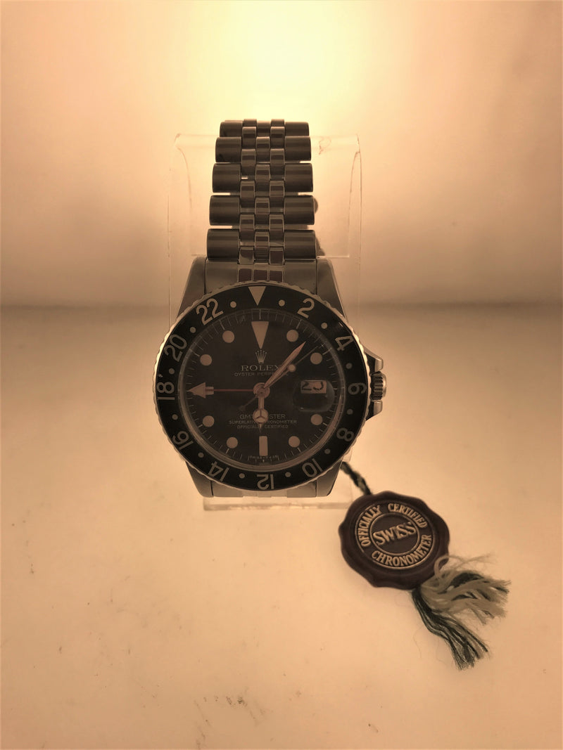 ROLEX GMT-MASTER  WRISTWATCH ROTATING BEZEL, BLACK DIAL IN STAINLESS STEEL - $20,000.00 VALUE