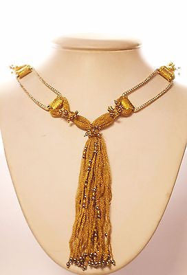Contemporary Custom Designed Diamond Necklace in 18 & 22K Yellow Gold - $40K VALUE