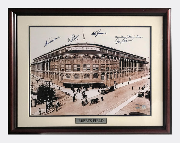 BROOKLYN DODGERS Limited Edition Signed Ebbets Field Lithograph, 1955 - $4K APR Value w/ CoA! +✓