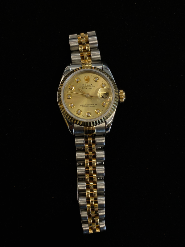 ROLEX Two-Tone Ladies Oyster Perpetual DateJust 18K YG & SS Chronometer - $14K Appraisal Value! ✓