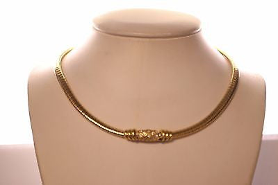 Contemporary Omega 33 Carat Diamond Necklace in 18K Yellow Gold - $20K VALUE