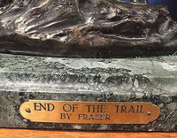 "James Earle Fraser, ""End of the Trail"", Sculpture, Limited Edition, c. 1894 - Appraisal Value: $20K!*"