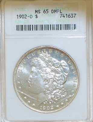 1902-O Morgan Silver $1 ANACS MS65 DMPL Super Proof-like! $15K Appraisal Value! ✓