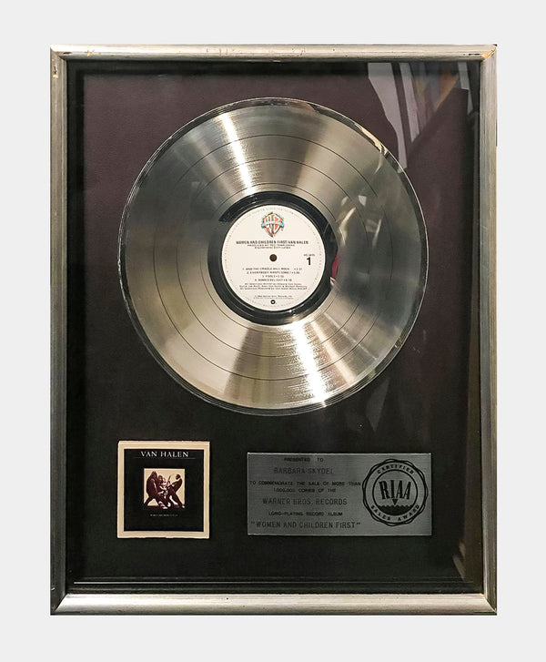 "VAN HALEN ""Women and Children First"" 1981 Platinum Record - $10K APR Value w/ CoA! +✓"