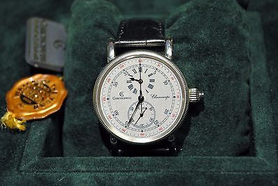 Limited Edition Chronoswiss Chronoscope Chronograph Wristwatch in Platinum - $60K VALUE